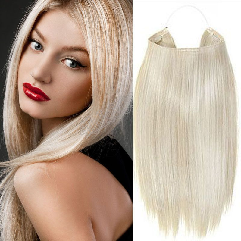 100 Real Human Hair Extensions Half Head Womam Invisible Headband
