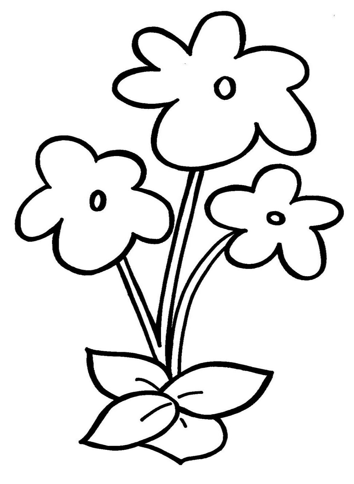Small Flower Coloring Pages Flower Coloring Pages Easy Flower Drawings Flower Drawing For Kids