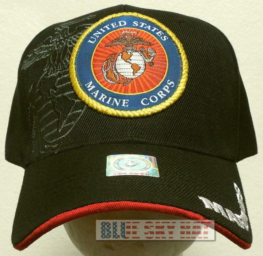 New Licensed Patch U S Marine Corps Usmc Marines Ega Eagle Globe Anchor Cap Hat Ebay Marine Corps Marine Caps Hats