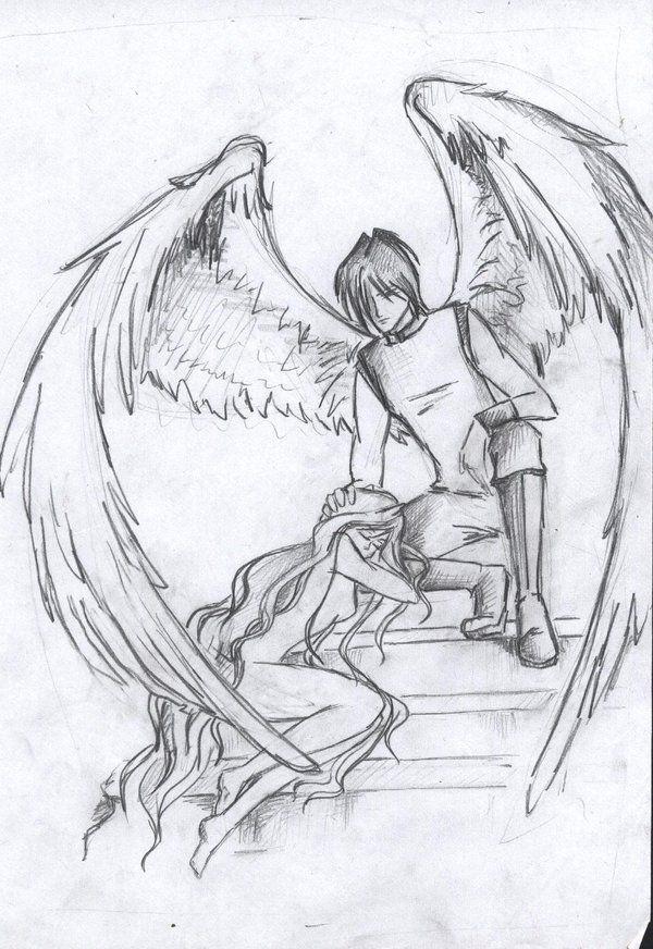 Fallen Angel Wings Drawing The Fallen Angel By Alexiel99 On