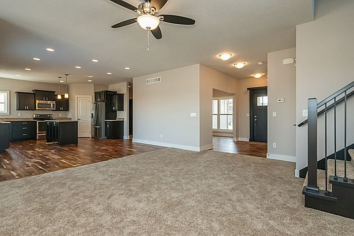 Office Space In The Front View Into The Kitchen And Front Door Interior Design Living Room Buying Carpet Home