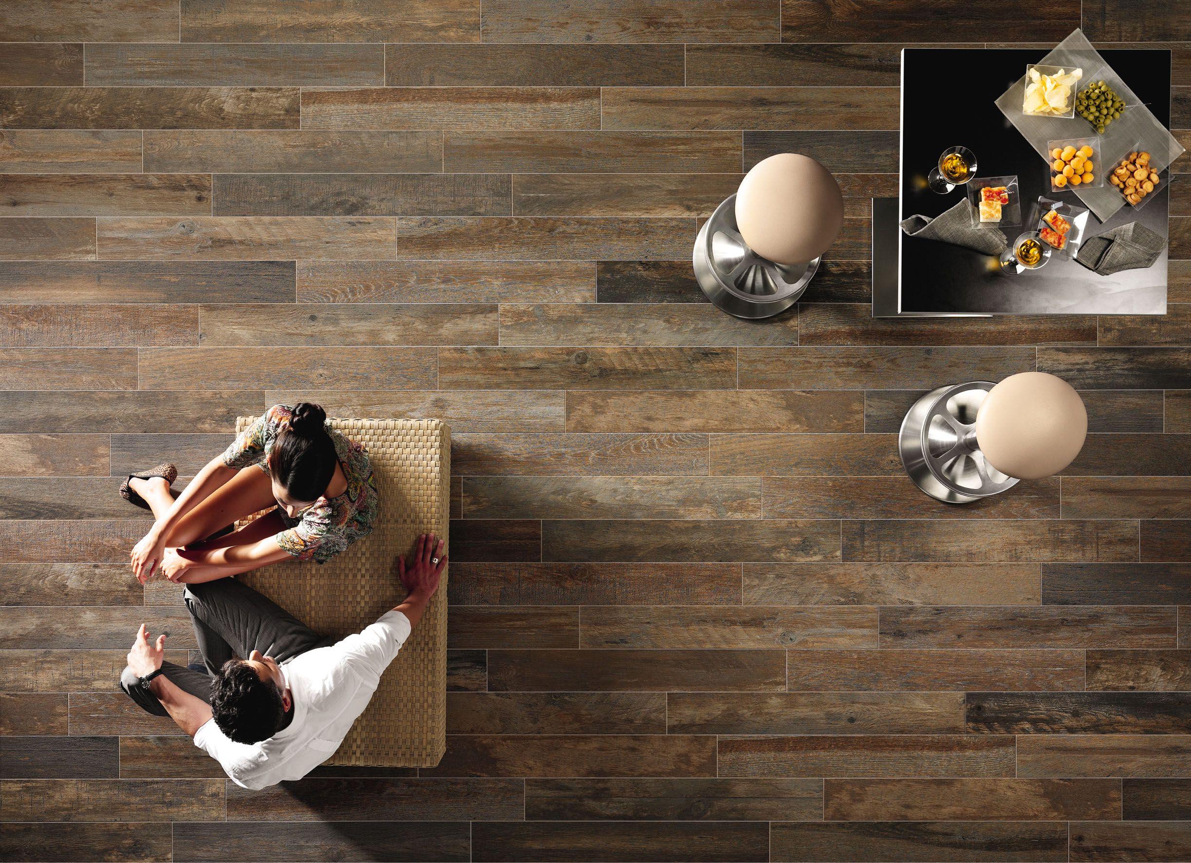 """Boards"" by Astor #vintage #wood look #porcelain floor #tile"