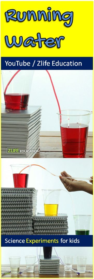 Make Different Colors Of Walking Running Water Through Pipes Using