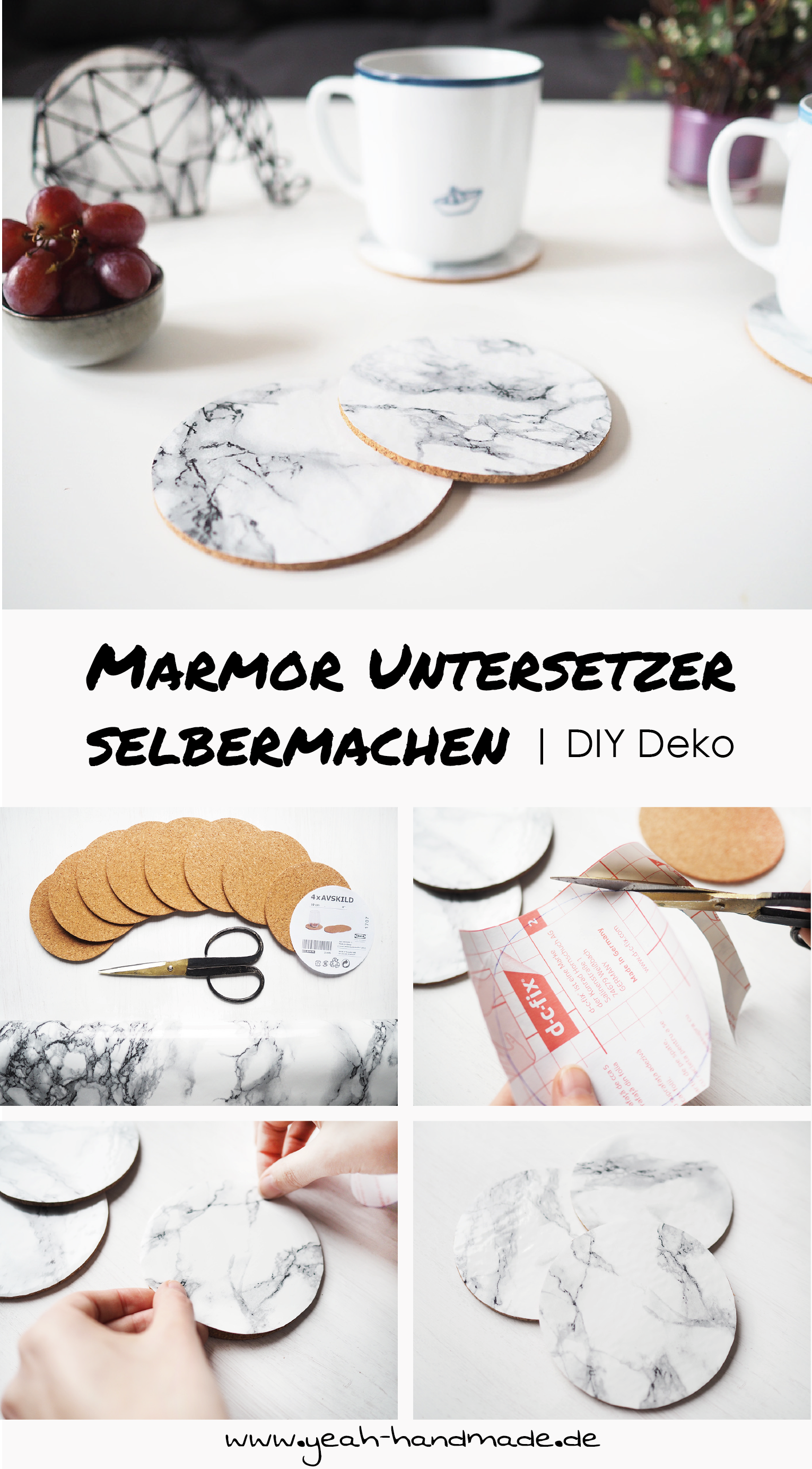 Photo of Make DIY marble coasters yourself