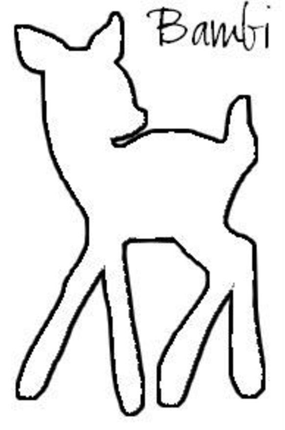Bambi Silhouette Motive Zeichnungen Vorlagen Und