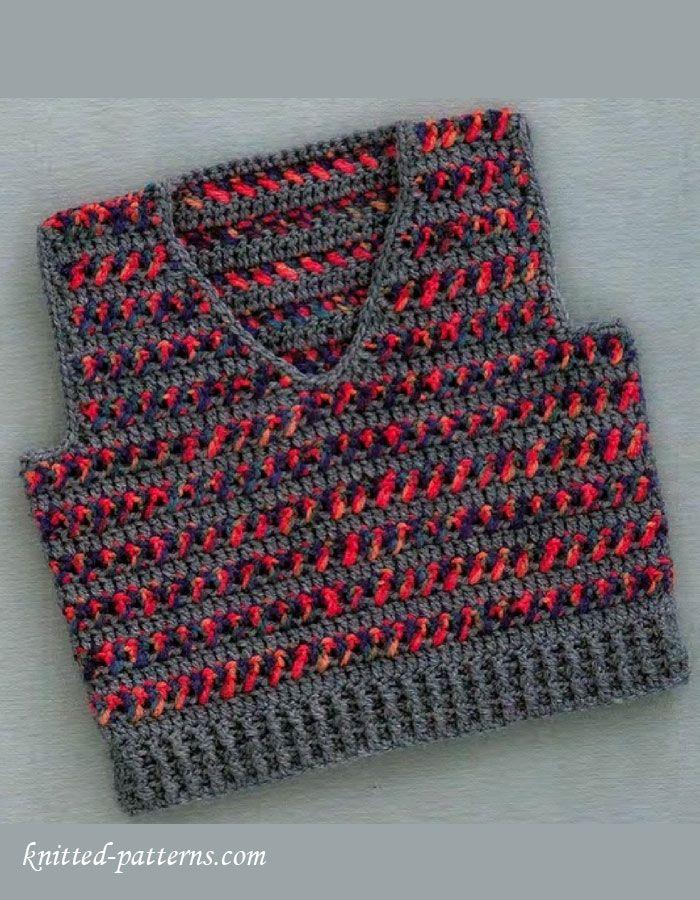 Baby boy vest crochet pattern free | patterns for kids | Pinterest ...
