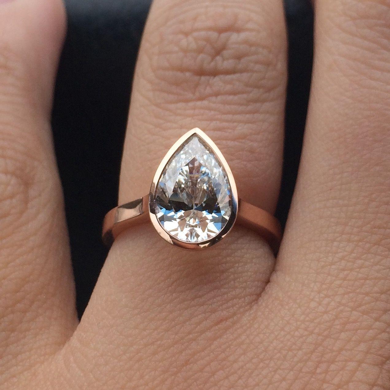 Let Me See Those Pears Engagement Ring Shapes Bezel Set
