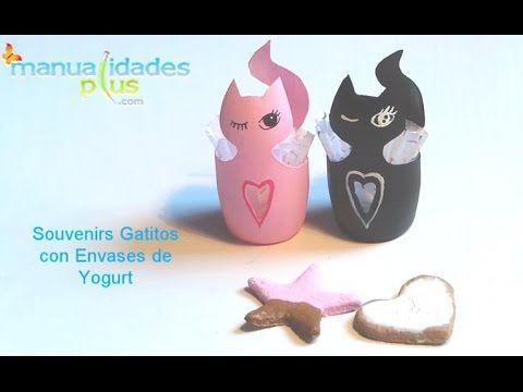 Souvenirs dulceros con envases de yogurt manualidades con - Manualidades con envases ...