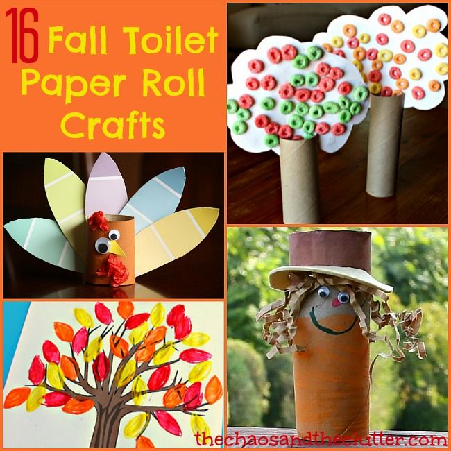 Crafts With Paper Towel Rolls For Preschoolers: 16 Fall Toilet Paper Roll Crafts