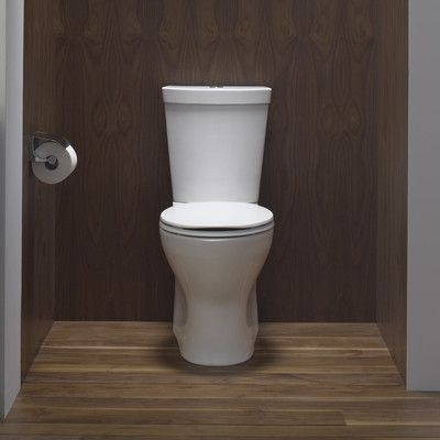 Persuade Skirted Two-Piece Elongated Dual-Flush Toilet with Top ...