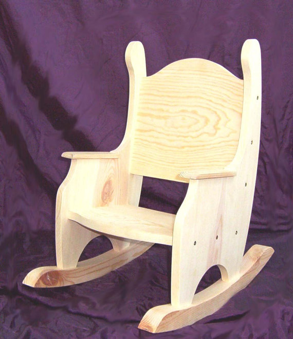Child S Rocking Chair Unfinished Pine W O Hearts Time Out Chair