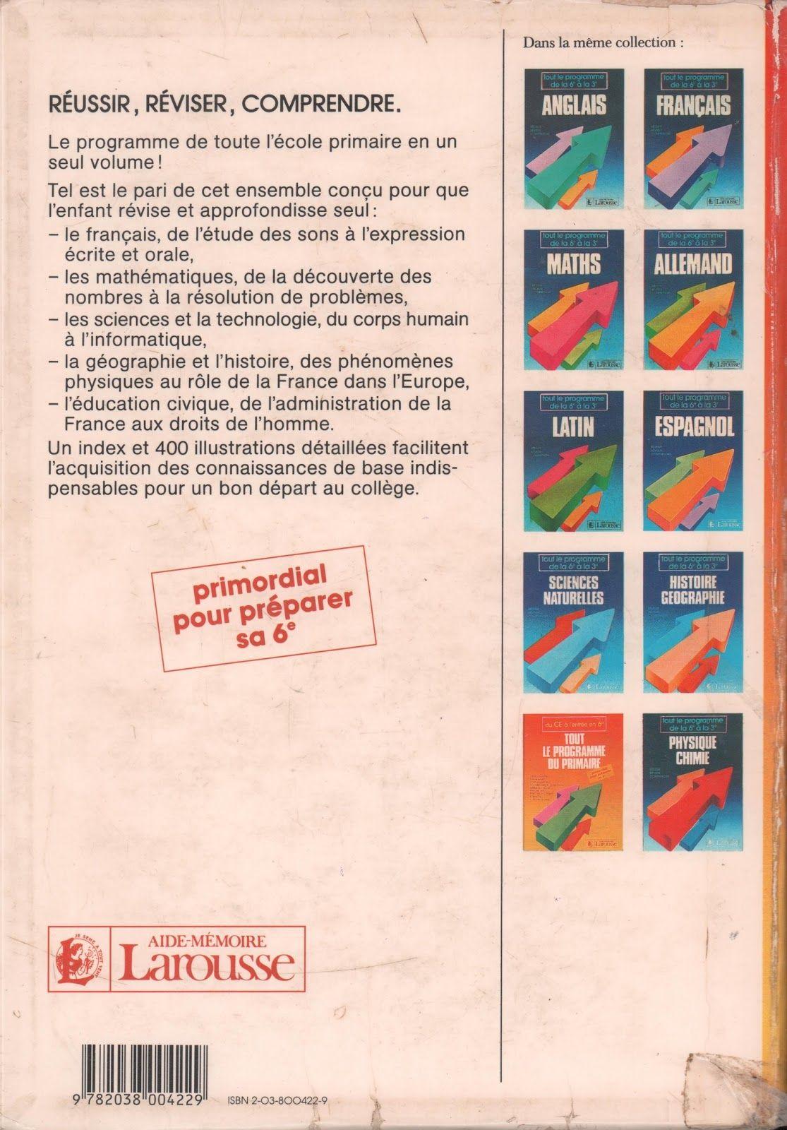 Melluso Borrel Tout Le Programme Au Primaire 1988 Grandes Images En 2020 Programme Scolaire Programme Primaire