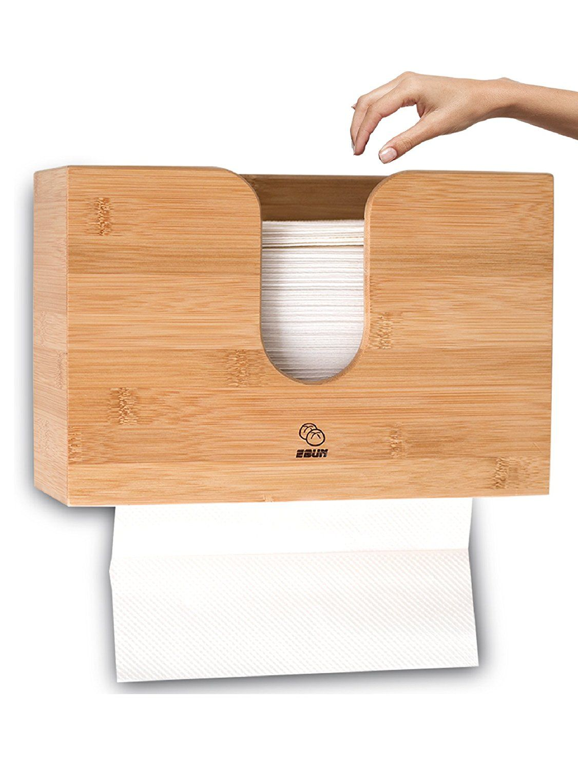 Wall Mount Paper Towel Dispensers Bamboo Paper Towel Dispenser For Kitchen Bathroom Wall Mount