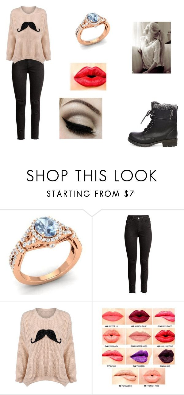 """""""Untitled #278"""" by deelaw22 ❤ liked on Polyvore featuring Diamondere, H&M, NYX and Steve Madden"""