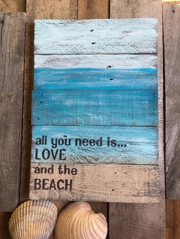 Wooden Beach Sign Diy Decor Discount Diy Decoration