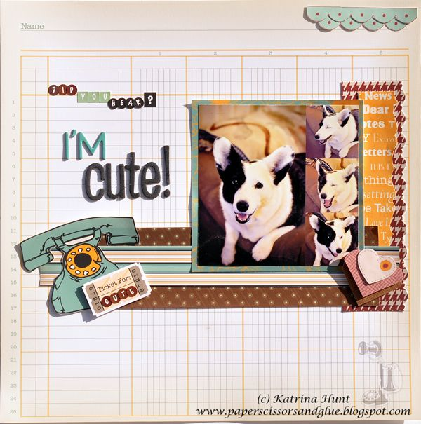 Did You Hear?  I'm Cute-Nikki Sivils, Scrapbooker - Scrapbook.com