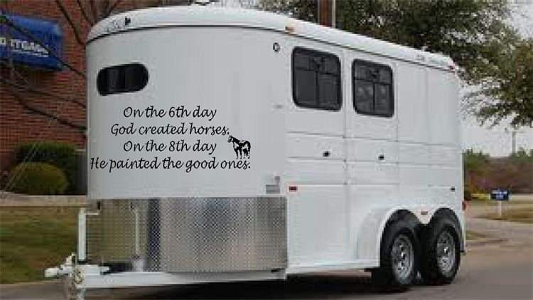 Kellys Custom Vinyl Lettering Art Horse Truck Trailer - Custom vinyl decals for trailers