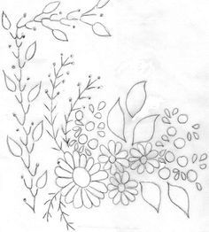 Patrones de flores para bordar a mano  Imagui  dibujos calcar