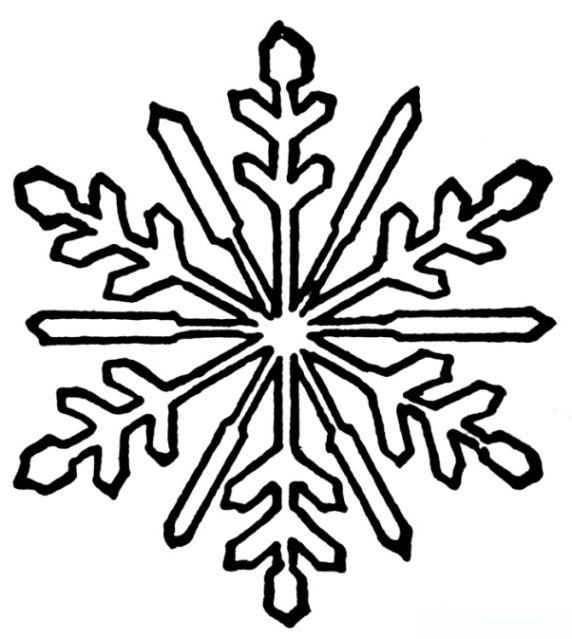 Malvorlagen Schneeflocke Ausmalbilder 1 | papierbasteln | Pinterest ...