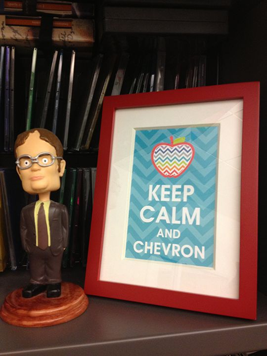 Christy C already has framed her FREE Chevron Printable from CTP in