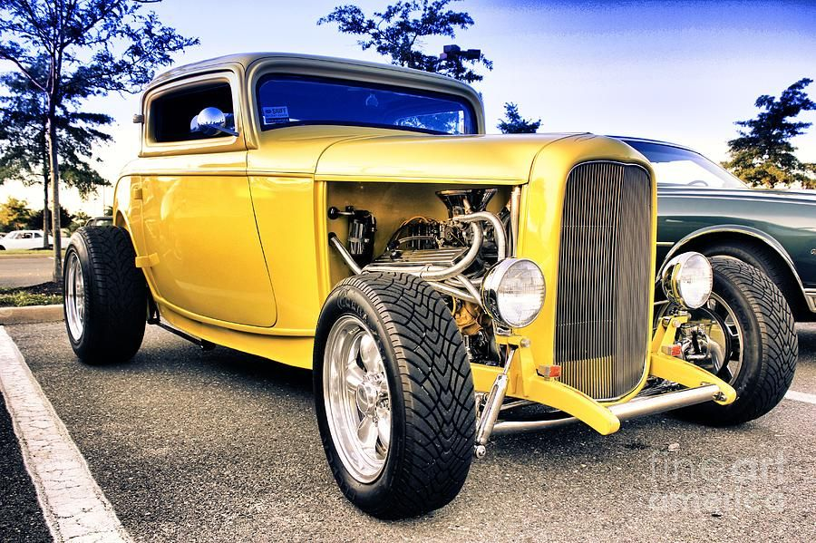 Hot Rod Muscle Car Art | hdr-yellow-hot-rod-car-cars-auto-buy-sell ...