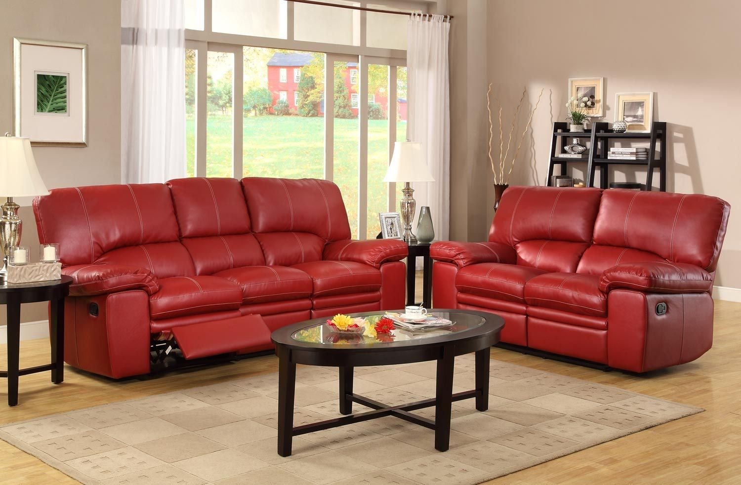 bold statement   living area   red