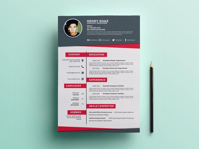 Free Flat Creative Resume Template Creative Resume Template Free Creative Resume Creative Resume Templates