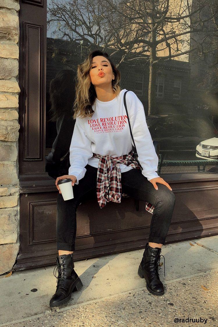 1bc1eede47c Love Revolution Graphic Sweatshirt in 2019   Forever 21 apparels I ...