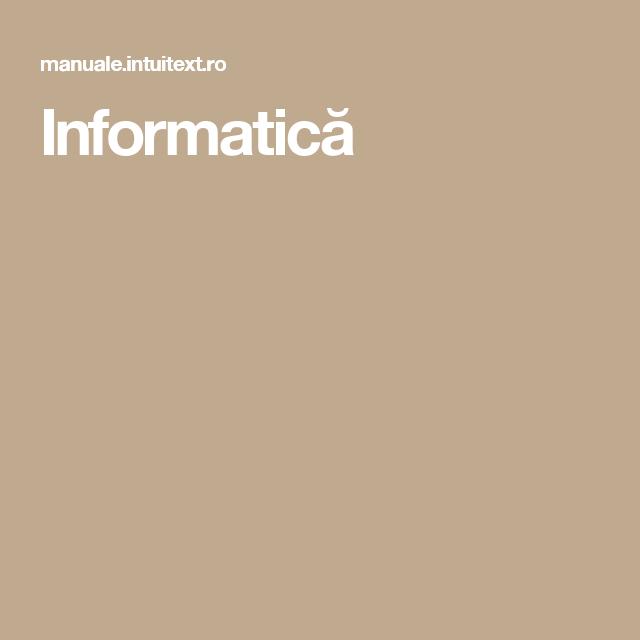 Informatică