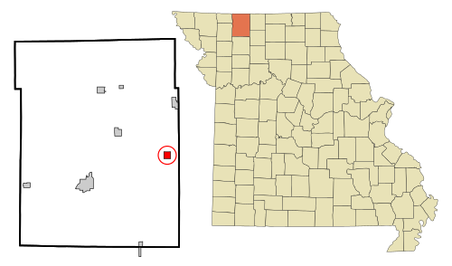Location of Mount Moriah, Missouri