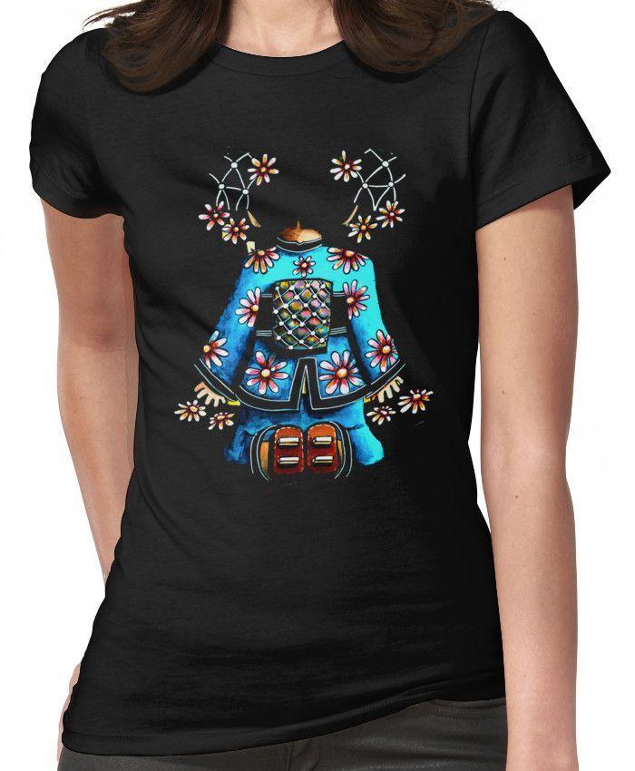 Asia Blue on Black TShirt by Karin Taylor Women's T-Shirt