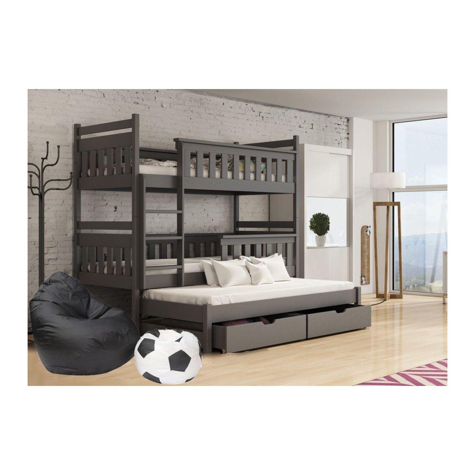 Harriet Bee Betsy Single (3') Triple Sleeper Bunk Bed with