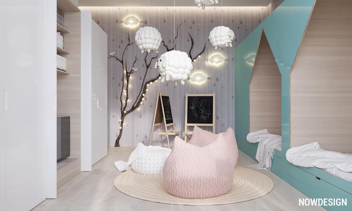 Minimalist interior design with green plant accents paradise for