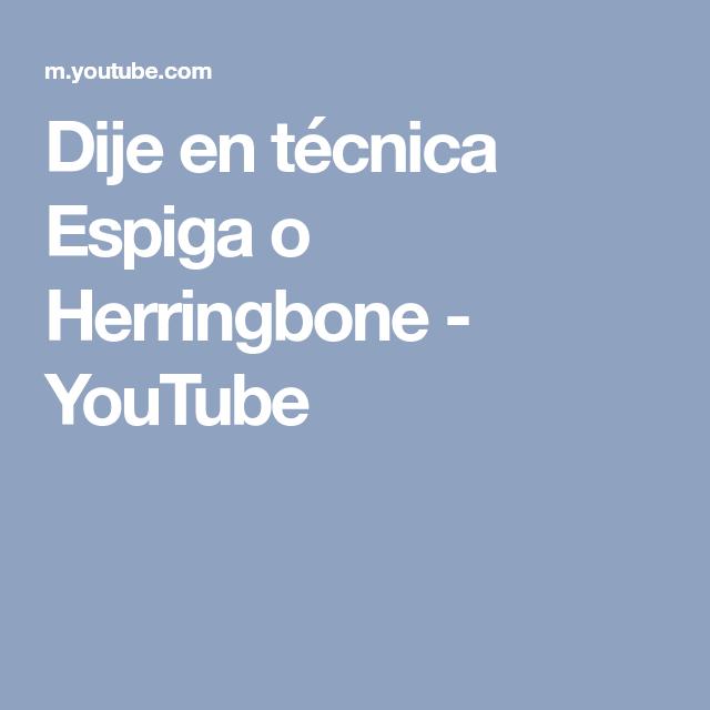 Dije en técnica Espiga o Herringbone - YouTube