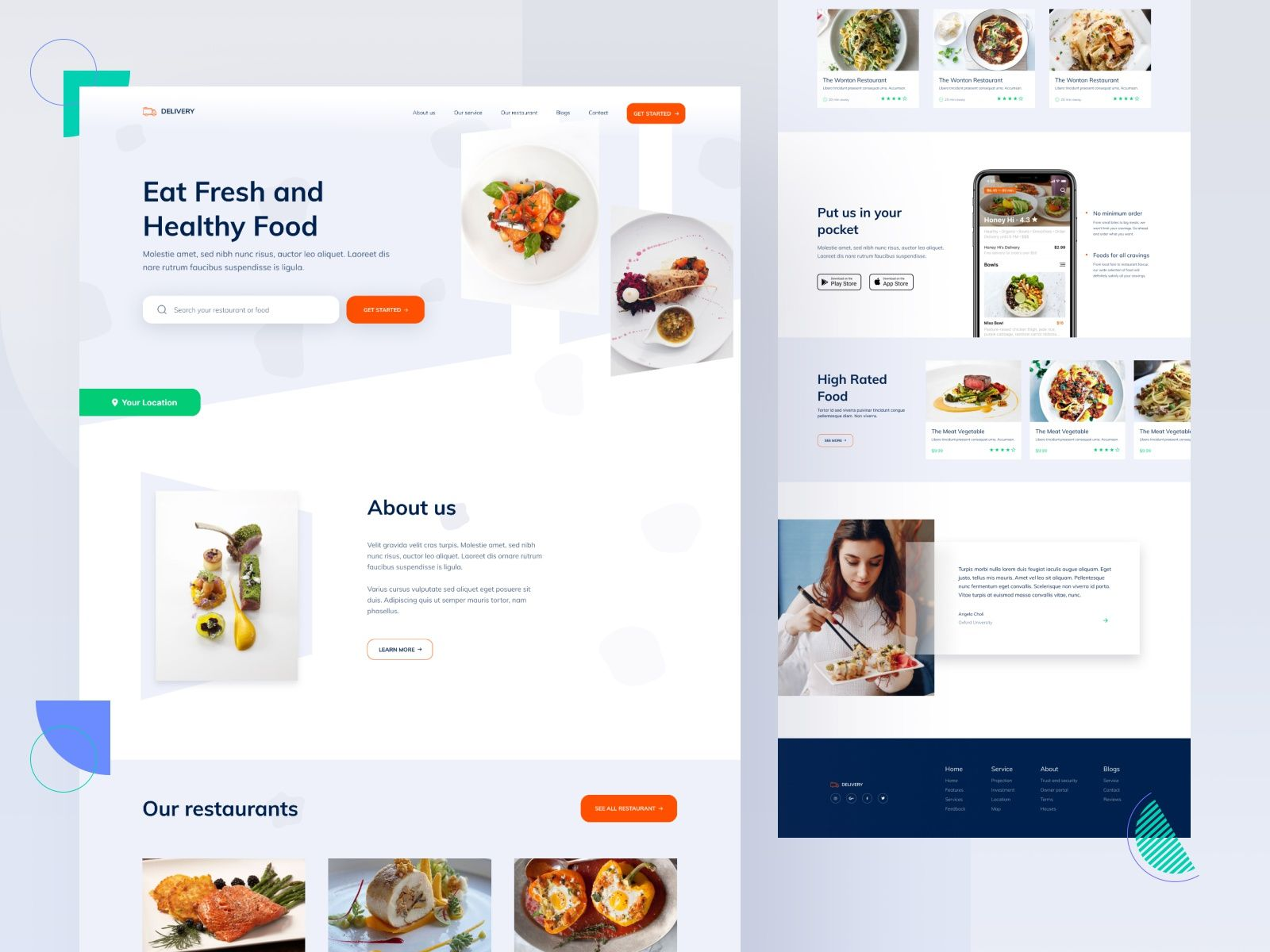 Food Delivery App Landing Page In 2020 Food Delivery App App Landing Page Delivery App
