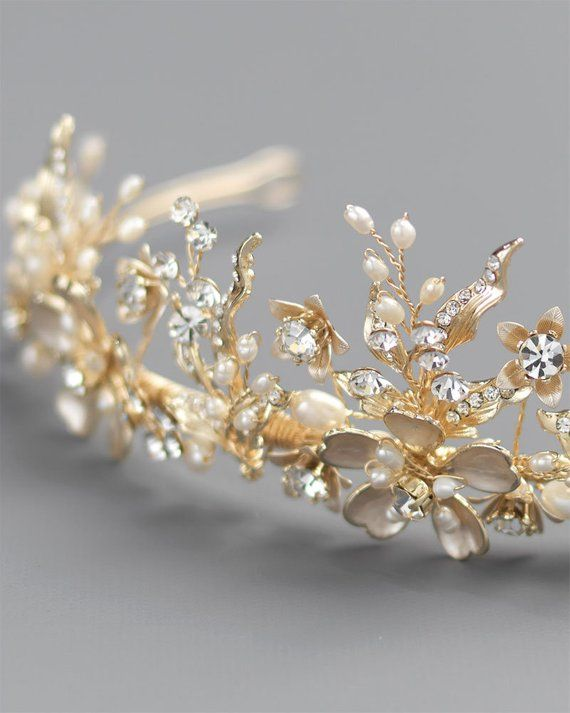 Engagement & Wedding Jewelry & Watches Diamante Crystal Faux Pearl Wedding Tiara Headband Crown Wreaths Elegant In Style
