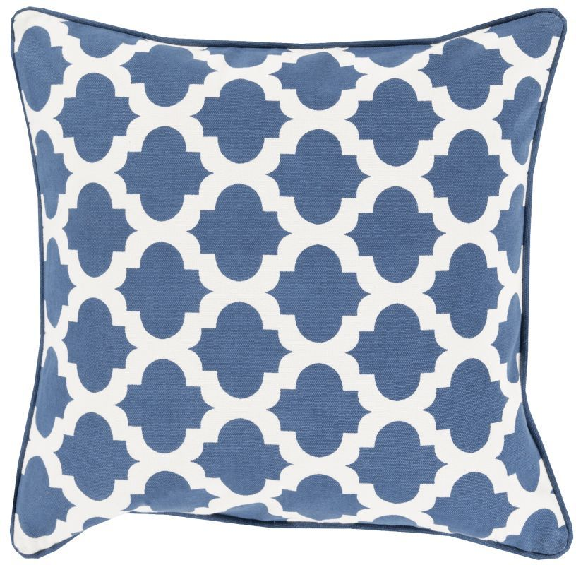 Surya MPL-001 Square Indoor Decorative Pillow with Down or Polyester Filling fro 18 x 18 Polyester Filler Home Decor Pillows Pillows