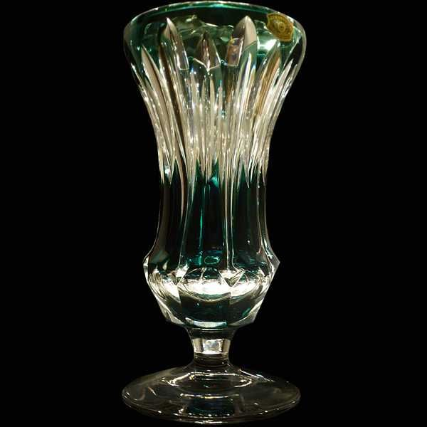 Vase Cristal Val Saint Lambert Emeraude French Crystal Pinterest