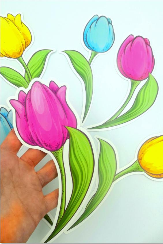 Dekoracje Wiosenne Tulipany Mario Characters