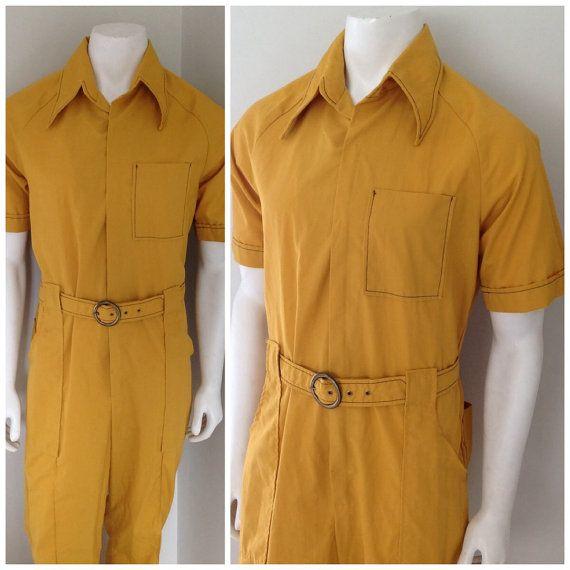 c7e3e211ae54 Vintage 1970s Men s Jumpsuit Jack Perry Sportswear by bamapana ...