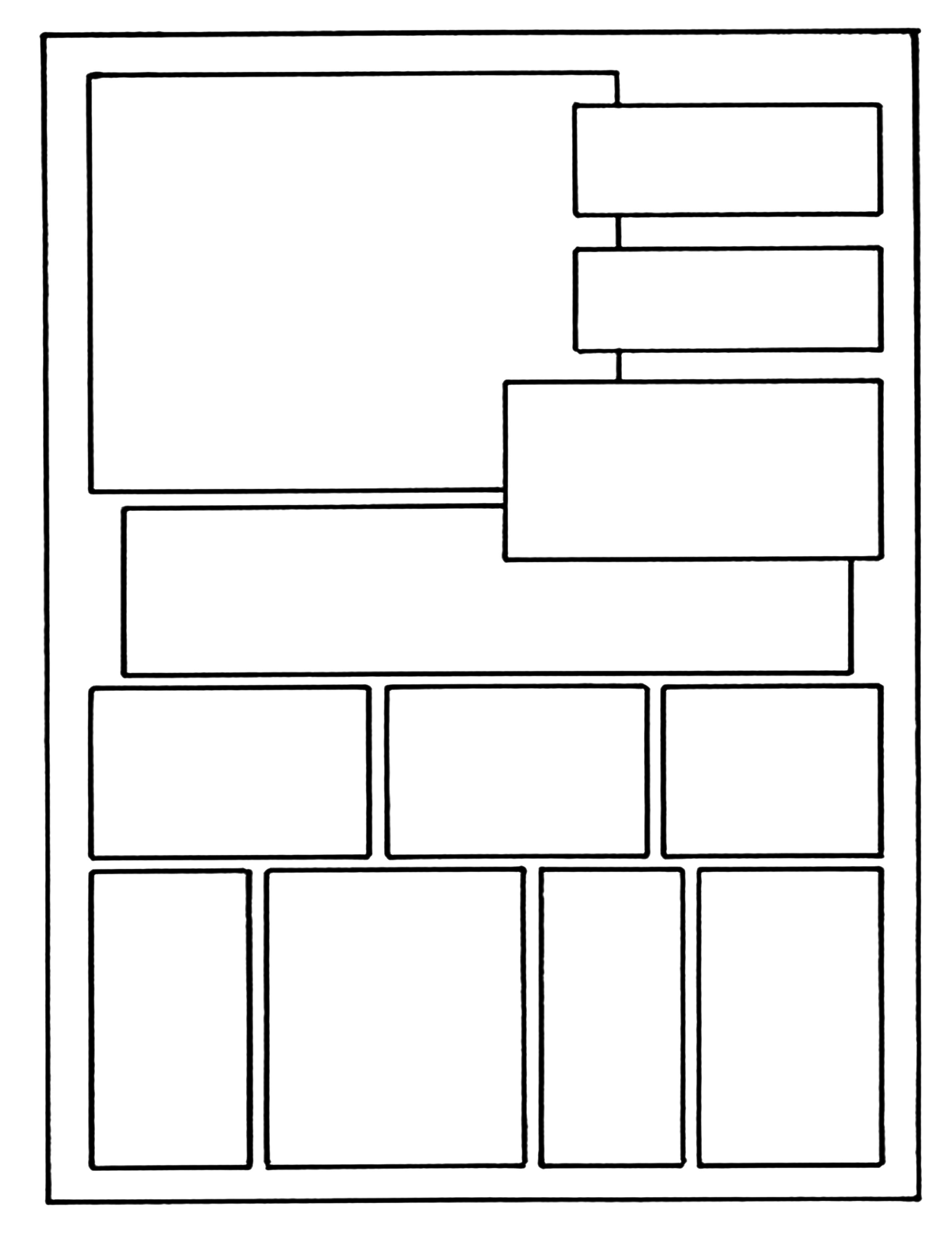 layout on 8 /1 x 11 example comic book layout | Superhero
