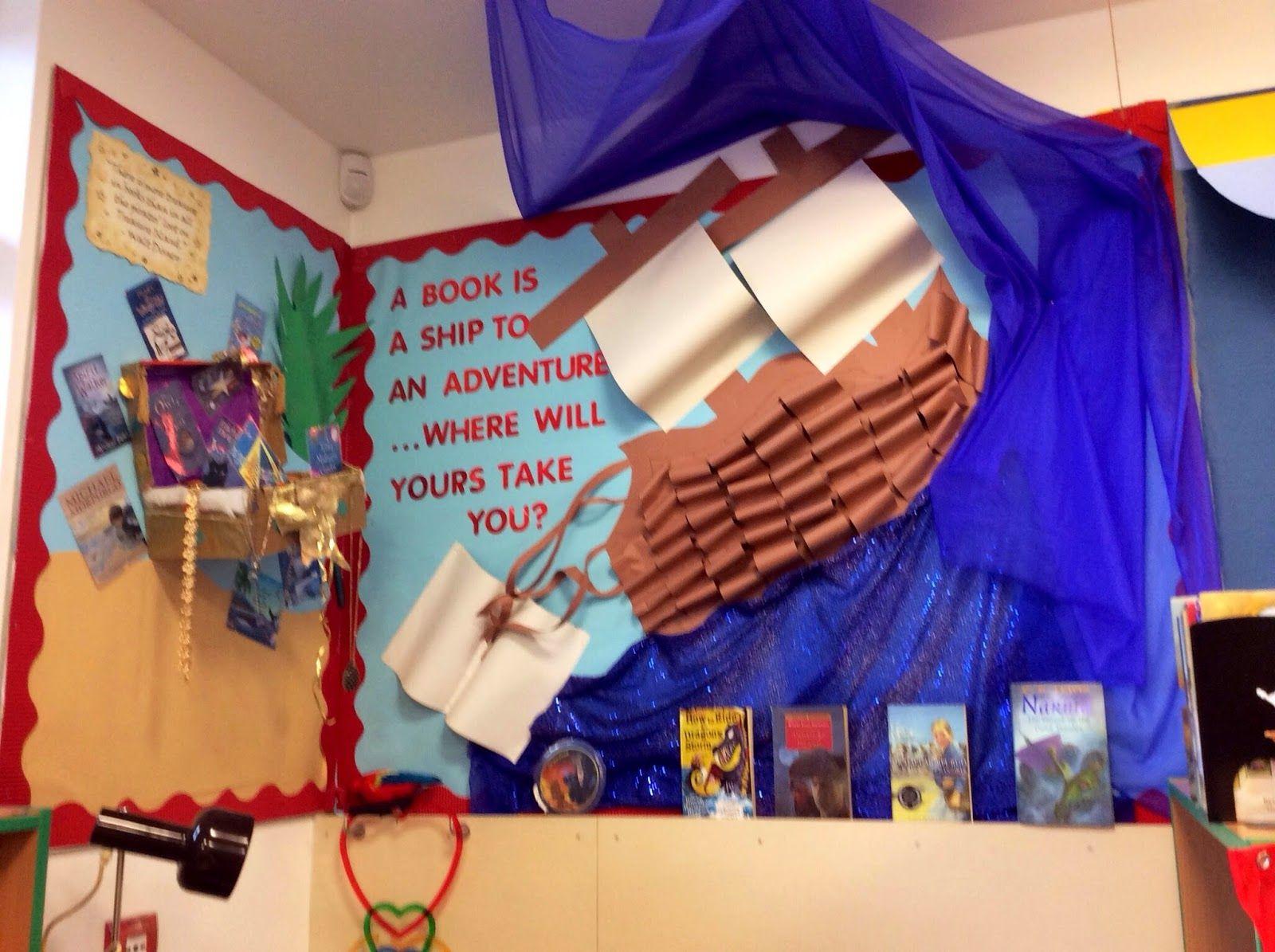 Classroom Worship Ideas : Book corner pirate treasure island theme classroom