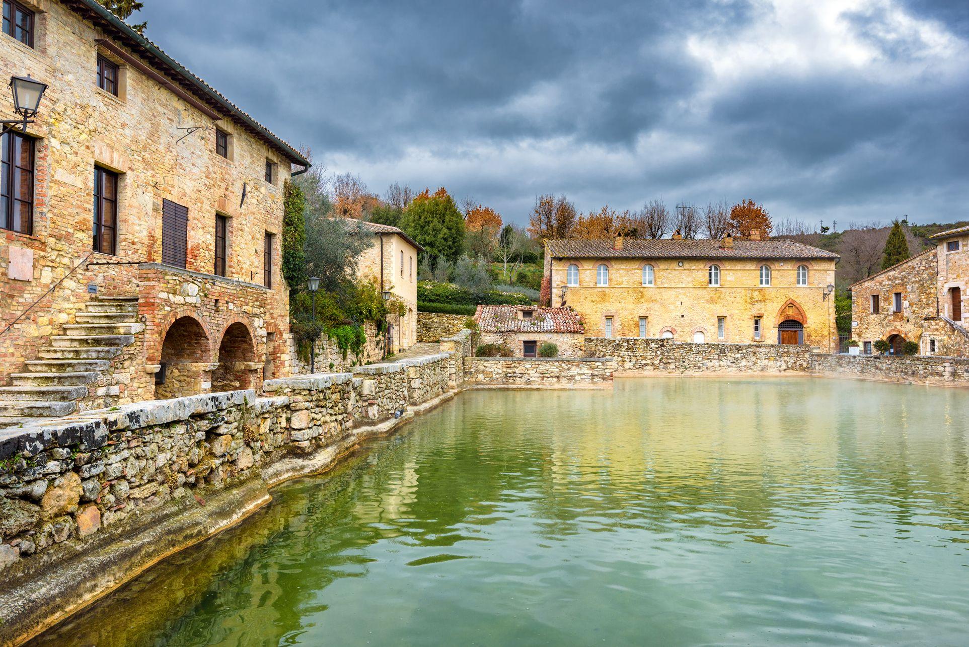 Bagno Vignoni a Siena Siena, Italia, Bagno