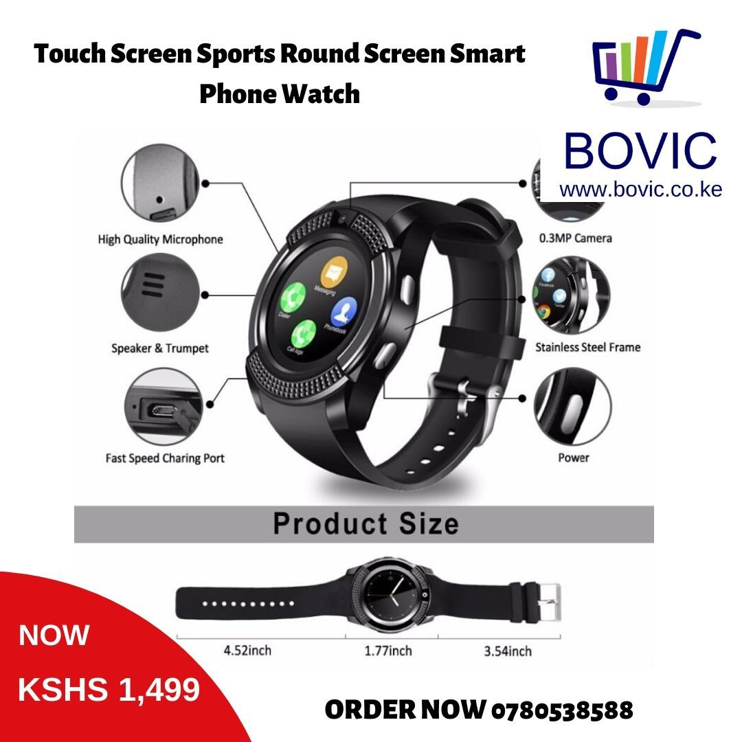 Touch Screen Sports Round Screen Smart Phone Watch 🎯 Offer