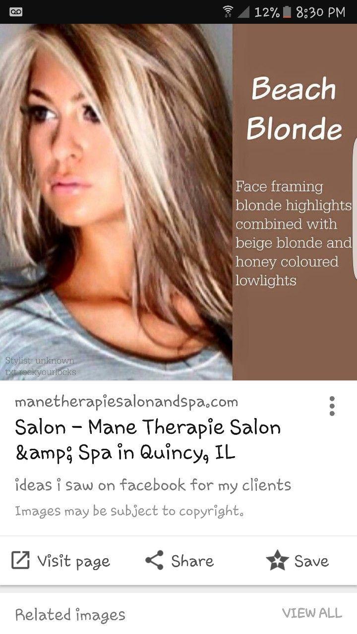 Pin by Jessica Mahaffey on hair Blonde highlights, Beige