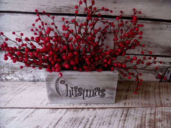Christmas Planter Box for Arrangements Candy by willowroaddesigns,