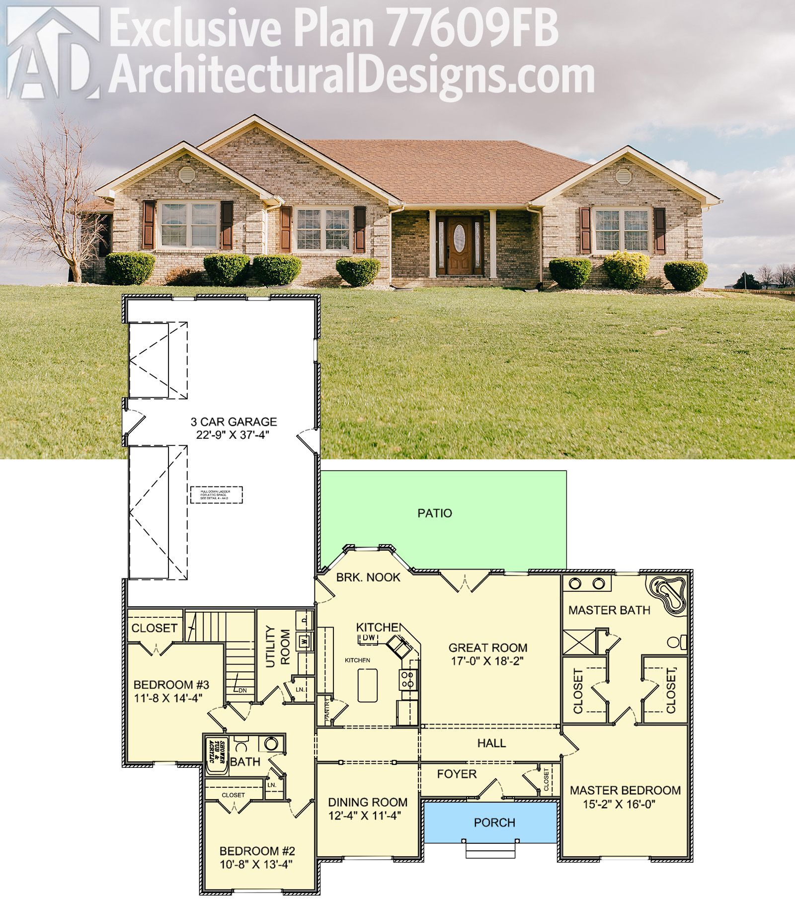 Architectural Designs Exclusive House Plan 77609fb Gives
