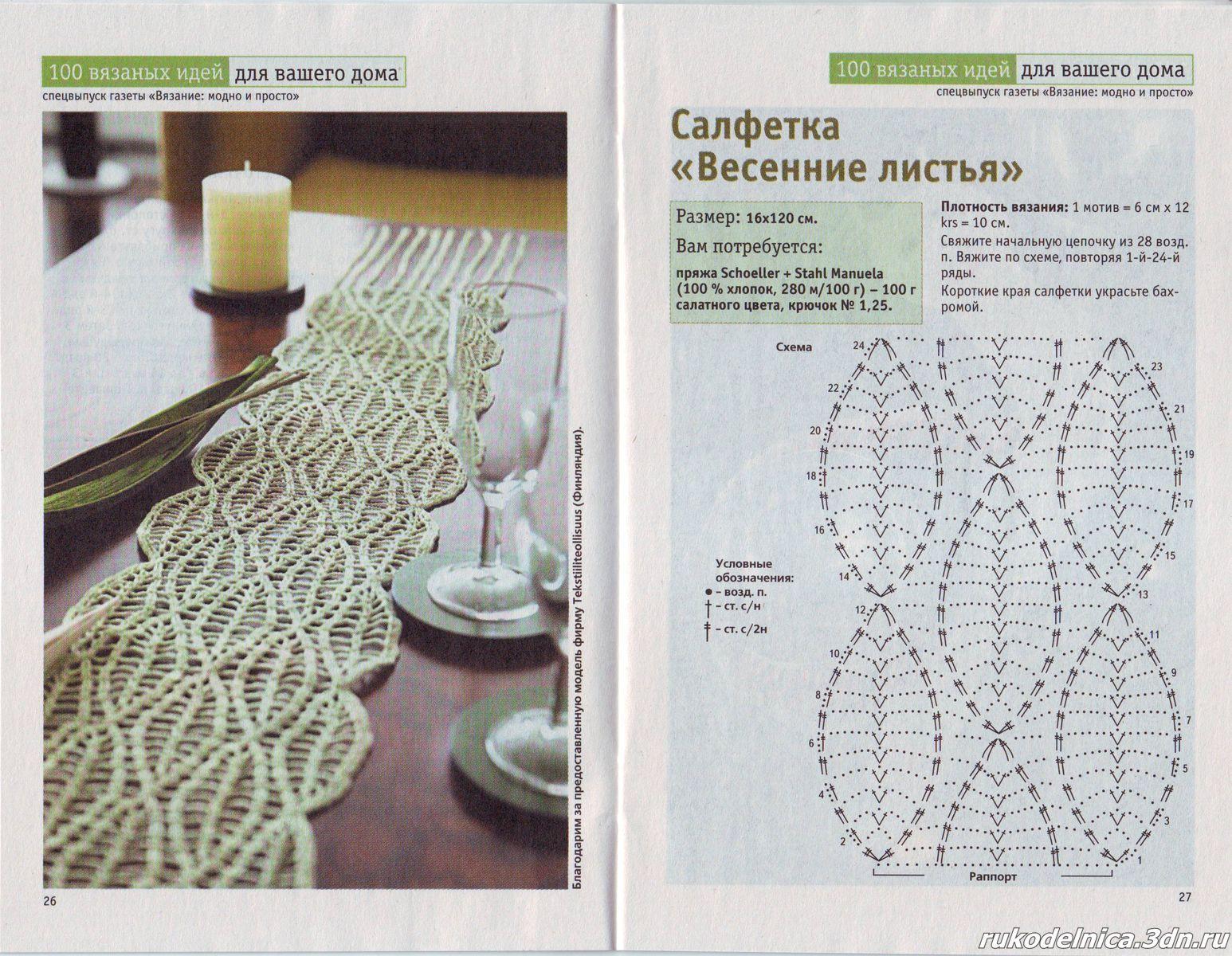 Patron Crochet Camino de Mesa - Patrones Crochet | Crochet Blankets ...