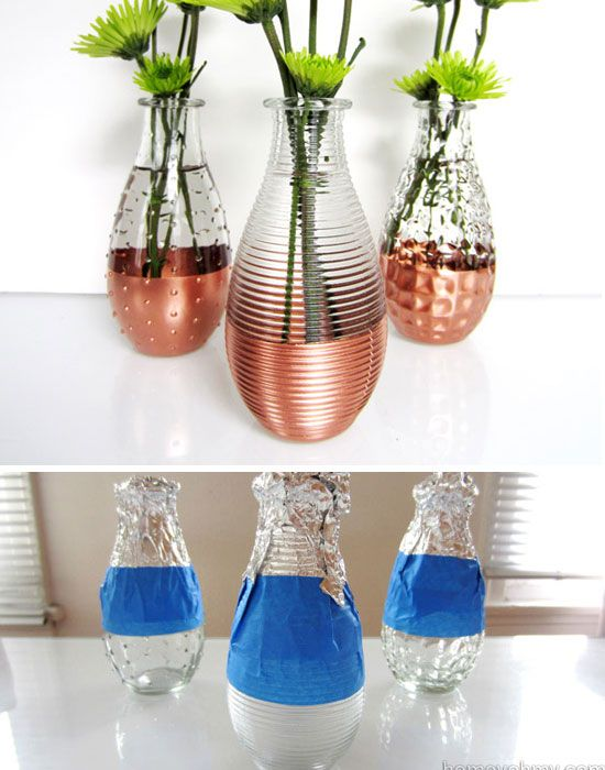 Diy Copper Dipped Vases Click Pic For 22 Diy Glass Craft Ideas For