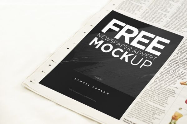 free newspaper advert mockup mockups and icons pinterest